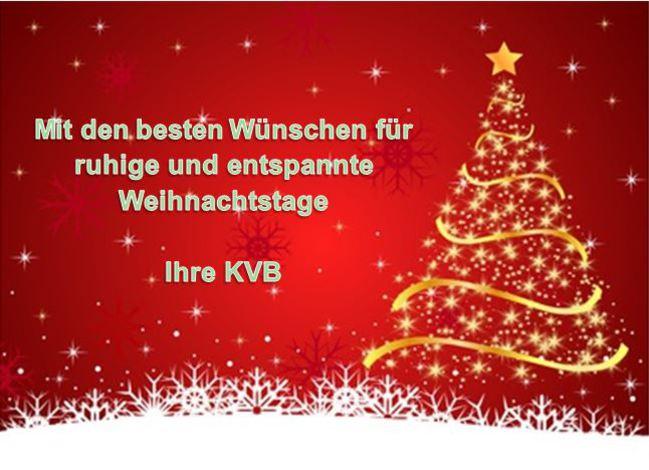 KVB-Internet - Aktuelles - Weihnachtszeit